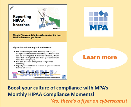 HIPAA Moments cyberscams