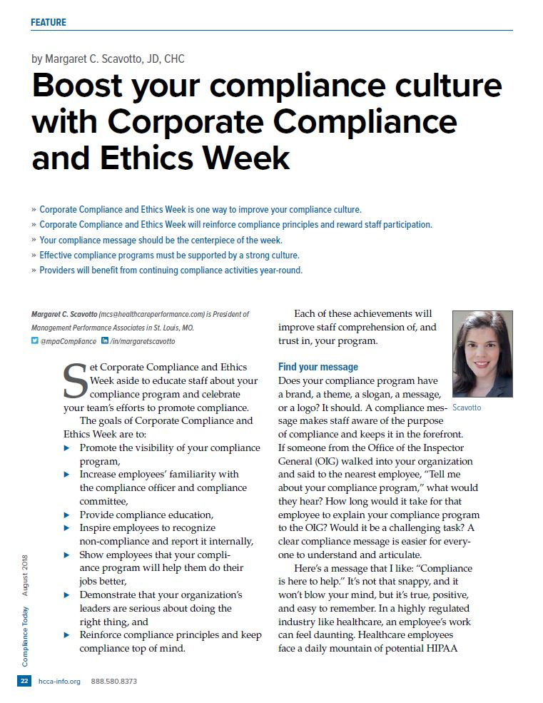 MCS compliance today article snip