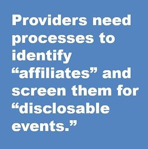 affiliates and disclosable events snip
