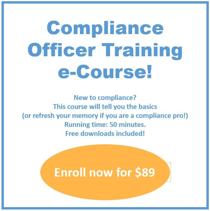compliance officer ecourse snip