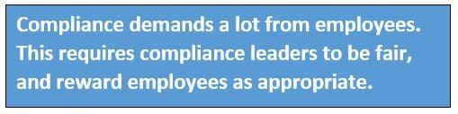 compliance discipline must be fair