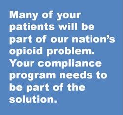 opioids compliance